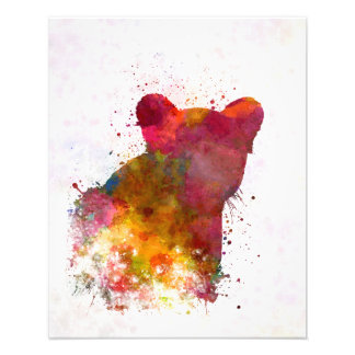 Female Lion 02 in watercolor Fotografías
