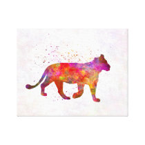 Female Lion in watercolor Canvas Print