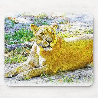 Female Lion Mouse Pad