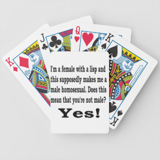 Female Lisp Bicycle Playing Cards