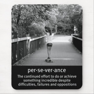 Female Longboard Perseverance Mouse Pad