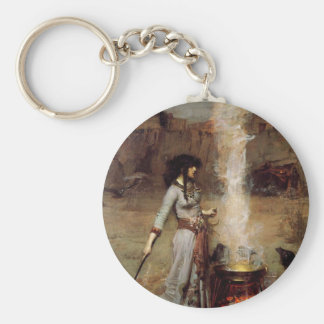 female-mage-1 basic round button keychain