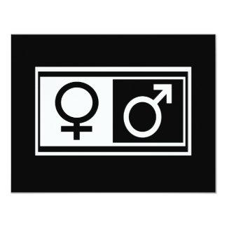 Female Male Symbols 4.25x5.5 Paper Invitation Card