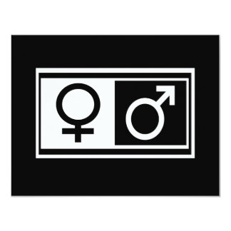 Female Male Symbols Card