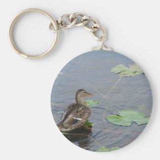 Female Mallard Basic Round Button Keychain