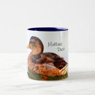 Female Mallard Duck Two-Tone Coffee Mug