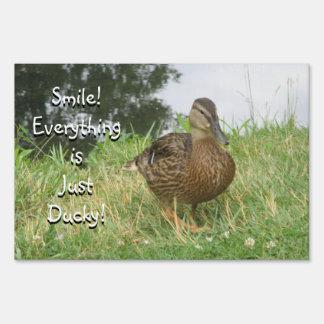 Female Mallard Duck Yard Sign