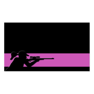 Female Marksman Business Card Templates