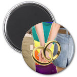 Female Marriage 2 Inch Round Magnet