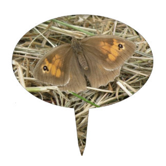 Female Meadow Brown Butterfly Cake Pick