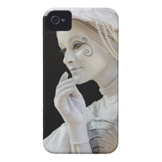 Female mime performing on street corner iPhone 4 Case-Mate case