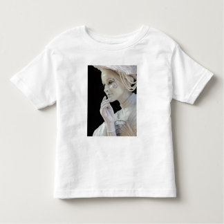 Female mime performing on street corner shirt