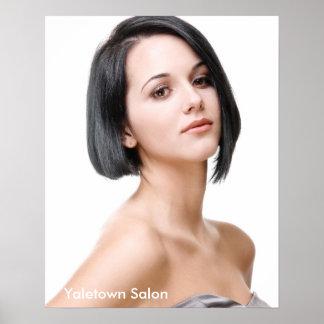 Female Model Hair Salon Poster