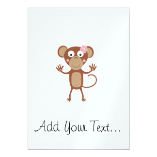 female monkey with flower card