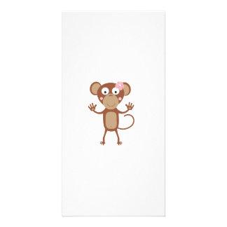 female monkey with flower card