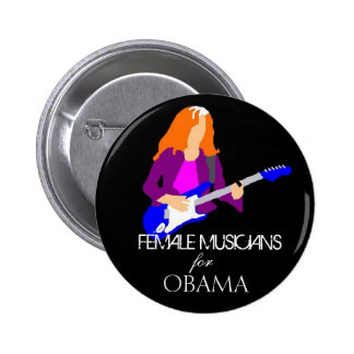 Female Musicians for Obama - Customized Button