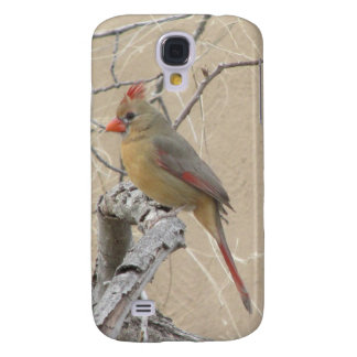 Female Northern Cardinal Galaxy S4 Cover