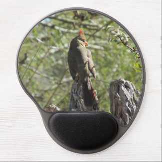 Female Northern Cardinal Gel Mouse Pad
