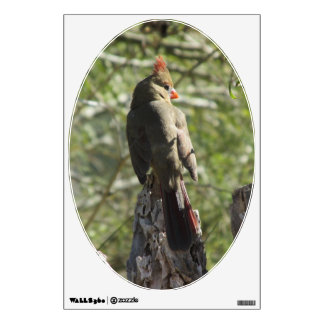 Female Northern Cardinal Wall Decal