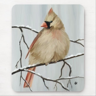 Female Northern Cardinals Mouse Pad
