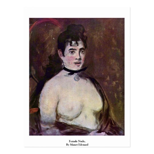 Female Nude,  By Manet Edouard Postcard
