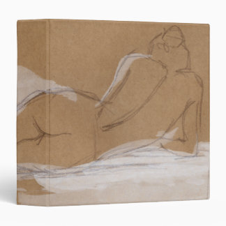 Female Nude Composition Lying in Bed 3 Ring Binder