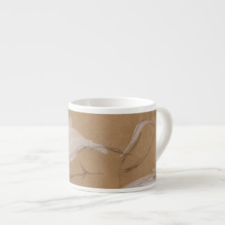 Female Nude Composition Lying in Bed 6 Oz Ceramic Espresso Cup