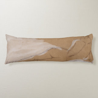 Female Nude Composition Lying in Bed Body Pillow