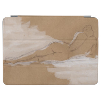Female Nude Composition Lying in Bed iPad Air Cover
