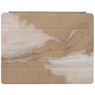 Female Nude Composition Lying in Bed iPad Smart Cover