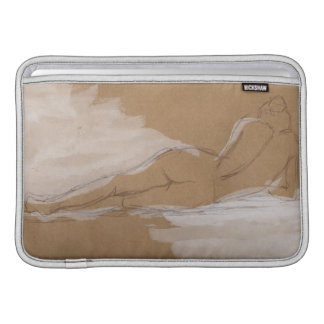 Female Nude Composition Lying in Bed MacBook Sleeve
