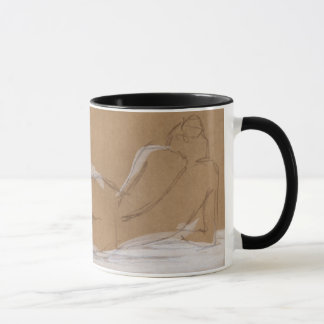Female Nude Composition Lying in Bed Mug