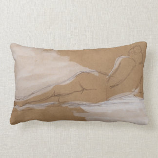 Female Nude Composition Lying in Bed Pillow