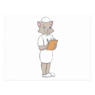 Female Nurse Cat Post Cards