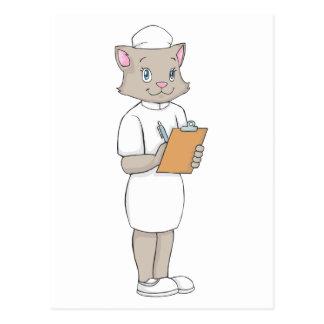Female Nurse Cat Postcards