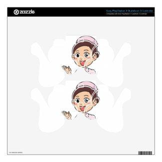 Female Nurse PS3 Controller Skin