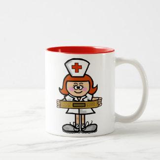 Female Nurse with Red Hair Mug to Customize