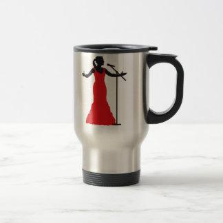 female opera more singer woman travel mug