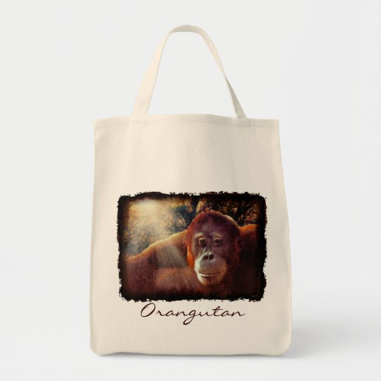 Female Orangutan Primate Wildlife Tote Bag