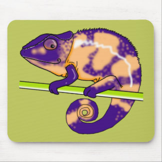 female panther chameleon (mousepad green) mouse pad
