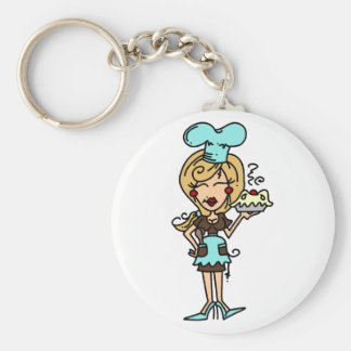 Female Pastry Chef - Blond T-shirts and Gifts Keychain