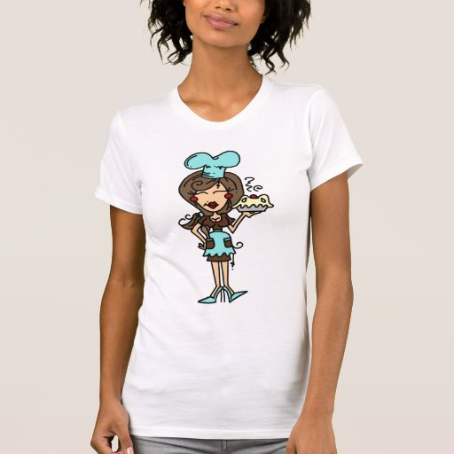 Female Pastry Chef - Brunette T-shirts and Gifts