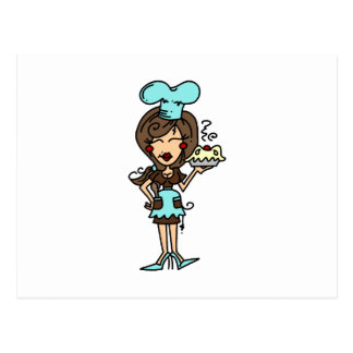 Female Pastry Chef - Brunette T-shirts and Gifts Postcard