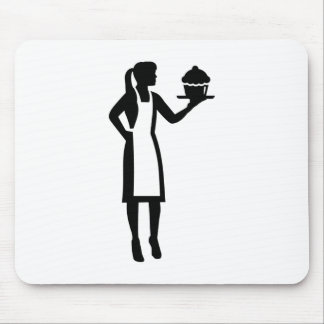 Female pastry chef mouse pad