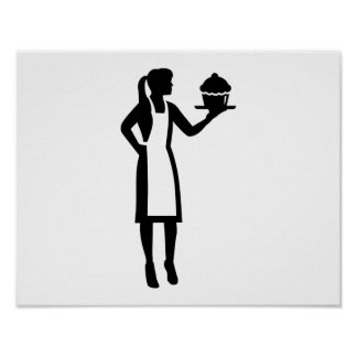 Female pastry chef poster
