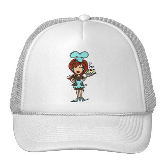 Female Pastry Chef - Red Hair T-shirts and Gifts Mesh Hat