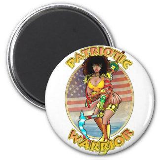 Female Patriotic Warrior Refrigerator Magnet