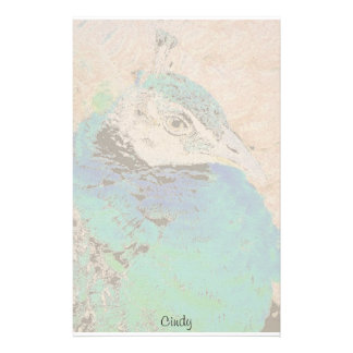 Female Peacock Personalized Stationery