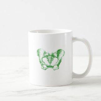Female Pelvis Green Coffee Mug