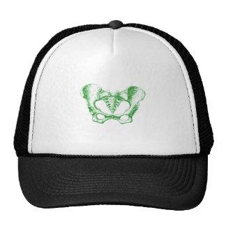 Female Pelvis Green Trucker Hat